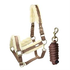 Halter and Lead Rope Equestrian Stockholm Champagne