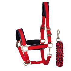 Halter and Lead Rope Harry's Horse Denici Cavalli Red