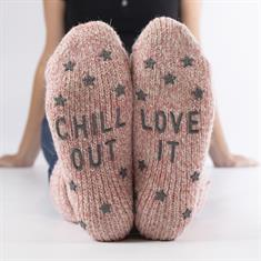 Home Socks Abs Text