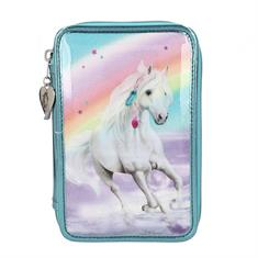 Miss Melody 3-Compartments Pencil Case Rainbow