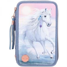 Pencil Case Miss Melody 3 Compartments Nature
