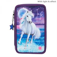 Pencil Case Miss Melody 3 Compartments with LED Light