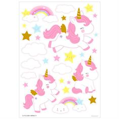 Wall Sticker Little Lovely Unicorn Gold